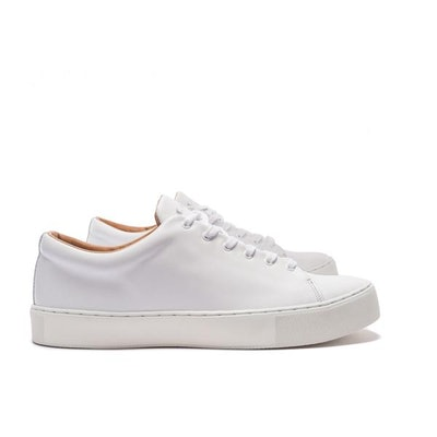 OVERSTONE DERBY SNEAKER - ALL WHITE LEATHER – Crown Northampton