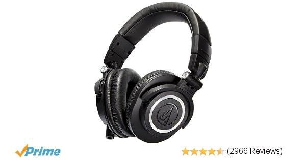 Audio Technica ATH-M50x Professional Studio Monitors