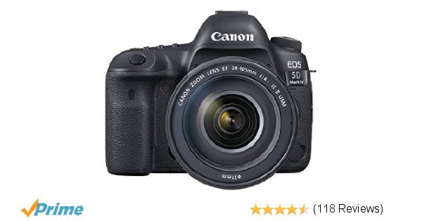 Amazon.com : Canon EOS 5D Mark IV Full Frame Digital SLR Camera with EF 24-105mm