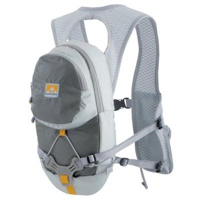 Nathan HPL #020 2.0 Liter Men's 2-Liter Hydration Race Vest (Flint Grey), Hiking