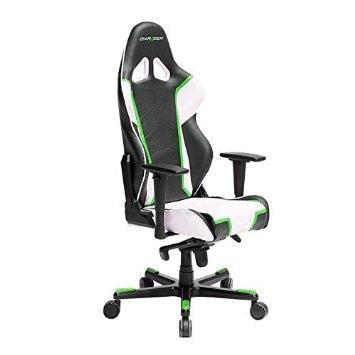 DXRACER White/green/black Gaming Chair