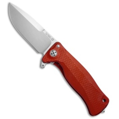 "LionSteel SR-11A Integral Frame Lock Knife Red Aluminum (3.6"" Satin) - Blade HQ"
