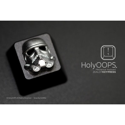 HolyOOPS Stormtroopoer 3D Backlit Aluminum Keycap - GeekKeys