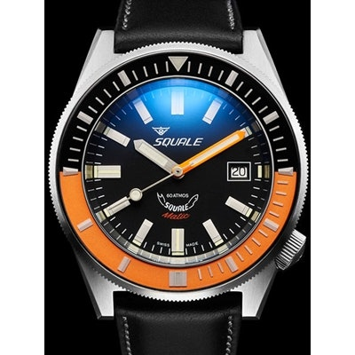 Squale 600 meter Professional Swiss Automatic Dive watch with 44mm Satin Case #M