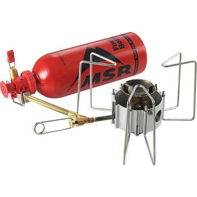 MSR® DragonFly™ multi-fuel camp stove.