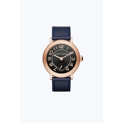 The Riley Black Leather Watch 36MM   Marc JacobsCloseInstagramTwitterFacebookPin