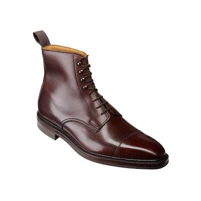 C&J Northcote Derby boot in Dark Brown Wax