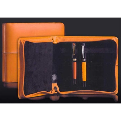 Markiaro Black Leather 12 Pen Carrying Case