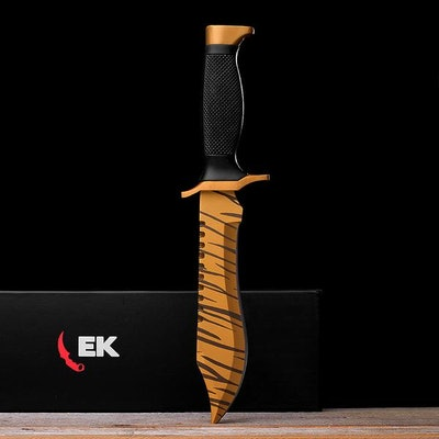 Real Tiger Tooth Bowie - Elemental Knives