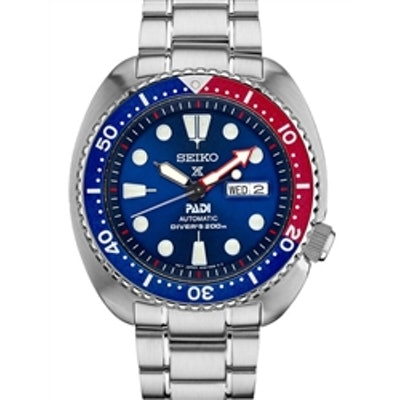 Seiko Special Edition PADI Prospex Automatic Dive Watch with Blue Dial and Stain