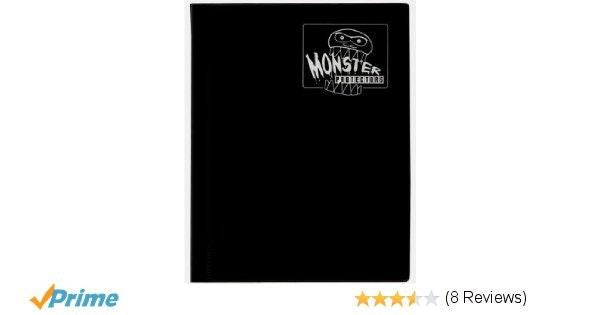 Amazon.com: Monster Binder - 4 Pocket Matte Black Album - Holds 160 Yugioh, Magi