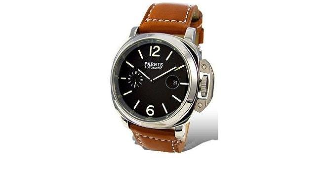 Amazon.com: Parnis Fashion Mens Automatic Watch Seagull Movement St25: Watches