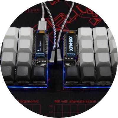 Helix キーボードキット | Ortholinear Split Keyboard Kit