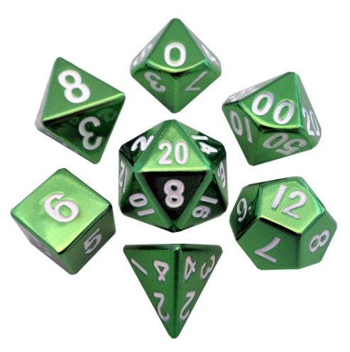 Metal Dice: 16mm Painted Polyhedral Sets – Metallic Dice Games