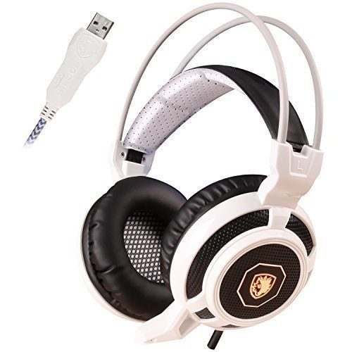 Amazon.com: SADES SA905 USB Gaming Headset with Microphone Glittering LED Lights
