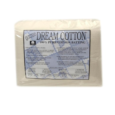 """Quilter's Dream Natural Cotton Deluxe Batting (122"""" x 120"""") King - Discount Desi"""