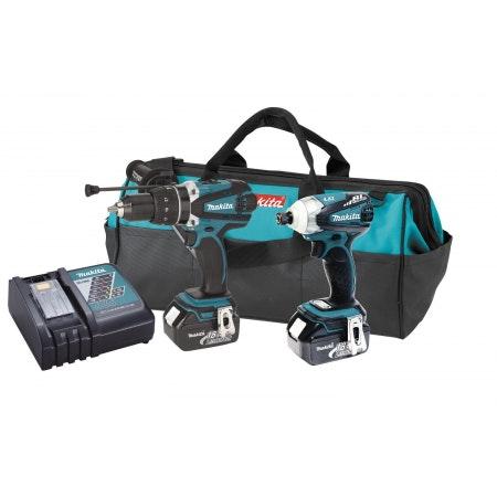 Makita 18-Volt LXT238X1 Lithium-Ion Cordless Combo Kit - Impact Driver, Driver-D