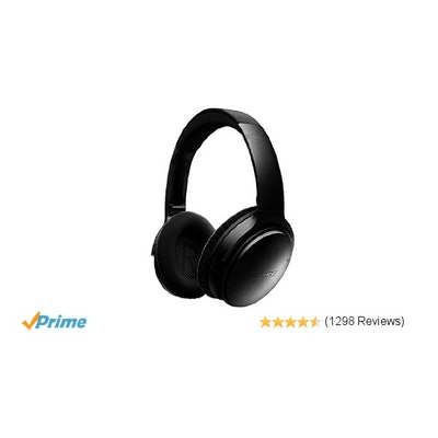 Amazon.com: Bose QuietComfort 35 Wireless Headphones, Noise Cancelling - Black: