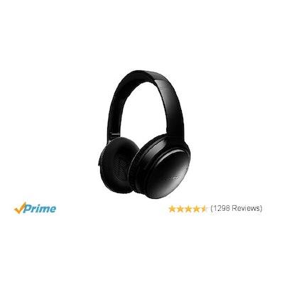 Amazon.com: Bose QuietComfort 35 Wireless Headphones, Noise Cancelling - Black: