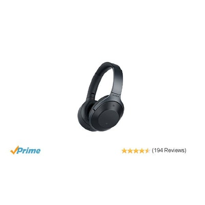Amazon.com: Sony Premium Noise Cancelling, Bluetooth Headphone, Black (MDR1000X/