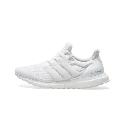 Adidas Ultraboost 3.0 Primeknit Men's Running Shoes - White/White     Adidas Ult