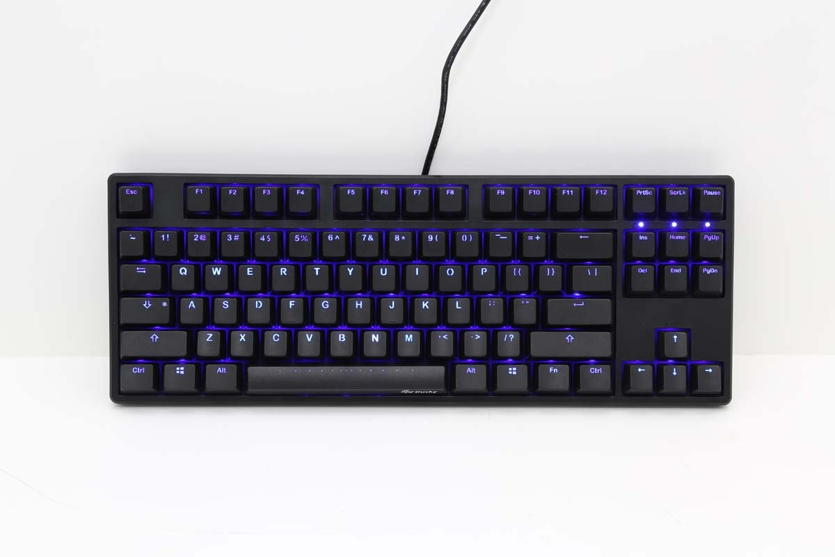 Ducky One TKL Blue LED Mechanical Keyboard (Brown Cherry MX)