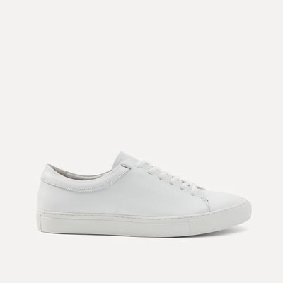 Park Leather Low-Top Sneakers in White    Frank + Oak