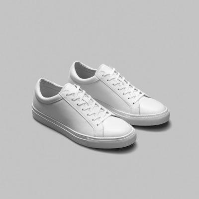 Erik Schedin White Leather Sneaker