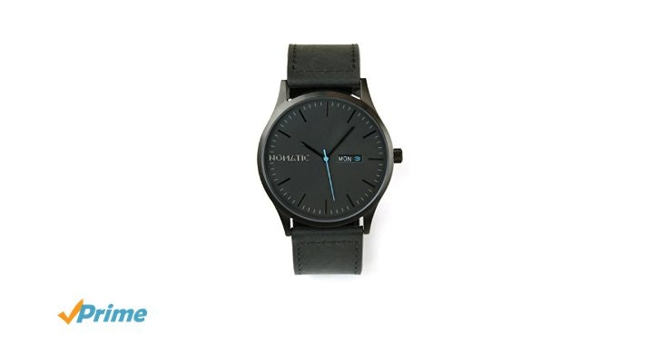 Amazon.com: The Nomatic Leather Band Watch - Black: Watches