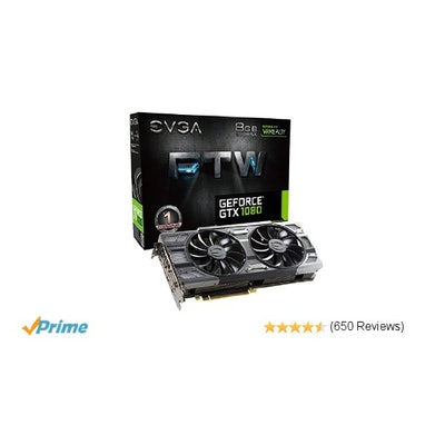Amazon.com: EVGA GeForce GTX 1080 FTW GAMING ACX 3.0, 8GB GDDR5X, RGB LED, 10CM