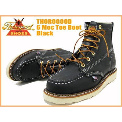 Thorogood Black Moc-Toe Wedge (non -safety toe)