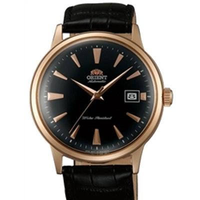 Orient 2nd Generation Bambino Automatic Watch with Black Dial, Rose Goldtone Cas
