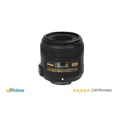 Amazon.com : Nikon AF-S DX Micro-NIKKOR 40mm f/2.8G Fixed Zoom Lens with Auto Fo