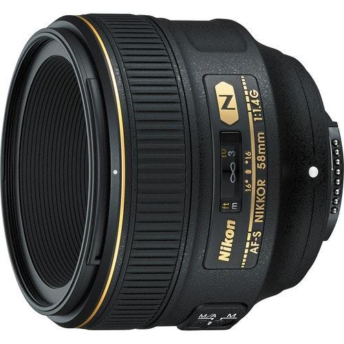 Nikon  AF-S NIKKOR 58mm f/1.4G Lens 2210 B&H Photo Video