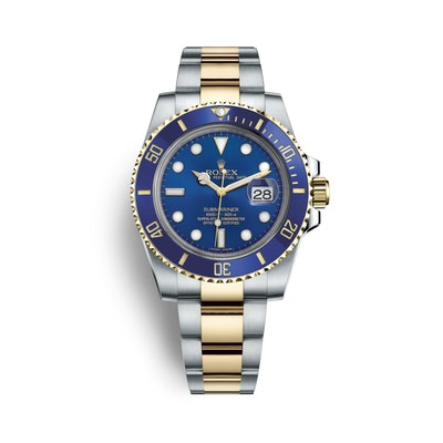 Rolex Submariner Date Watch: Yellow Rolesor - combination of Oystersteel and 18