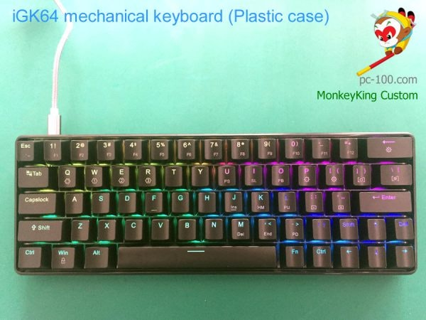 iGK64 RGB hot swappable cherry mx mechanical keyboard
