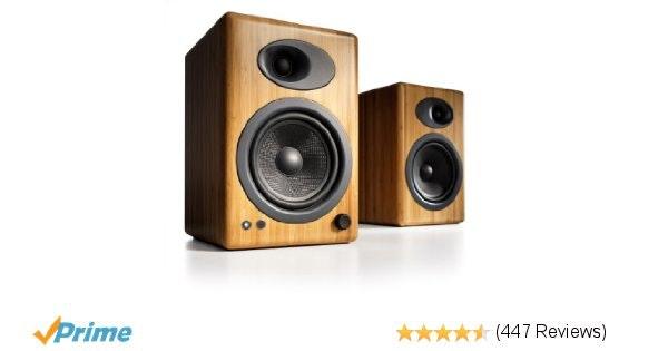 Amazon.com: Audioengine A5+ Premium Powered Speaker Pair (Carbonized Solid Bambo