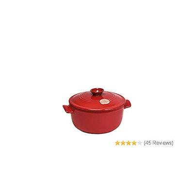 Emile Henry Flame Round Stewpot Dutch Oven, 7 Quart, Burgundy: Kitch