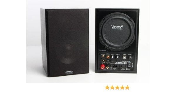 Vanatoo Transparent One Powered Speakers (Black, Set of 2): Amazon.ca: Electroni