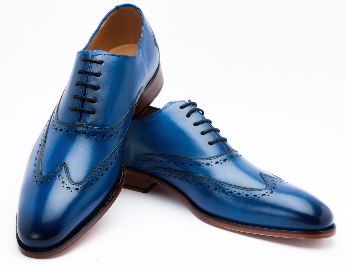 Wingtip Oxford - Blue