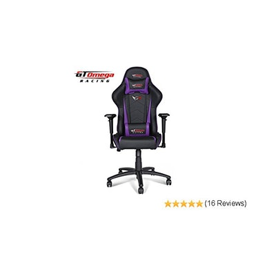 GT OMEGA PRO RACING OFFICE CHAIR BLACK NEXT PURPLE LEATHER: Amazon.co.uk: Kitche