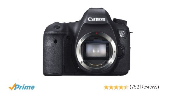 Amazon.com : Canon EOS 6D 20.2 MP CMOS Digital SLR Camera with 3.0-Inch LCD (Bod