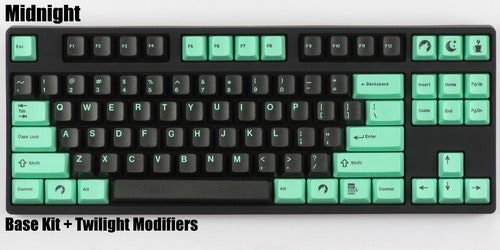 "DCS ""Midnight"" Keycap Set - Pimpmykeyboard.com"