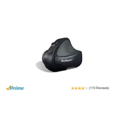 Swiftpoint GT Wireless Ergonomic Mobile Mouse with Touch Gestures