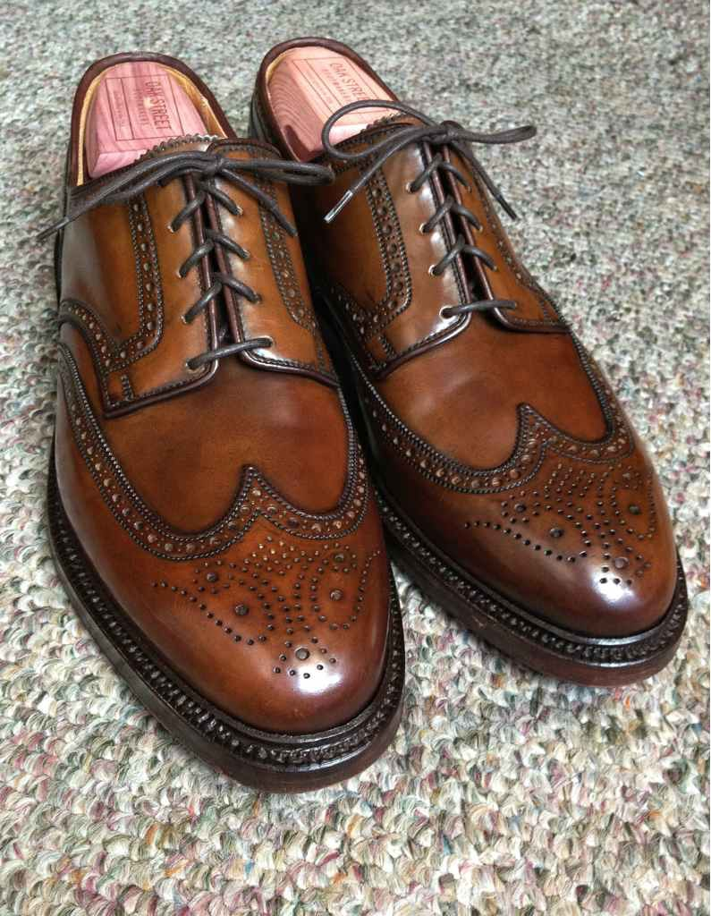 Men's Marlow Cordovan Wingtip Dress Shoes | Ralph Lauren