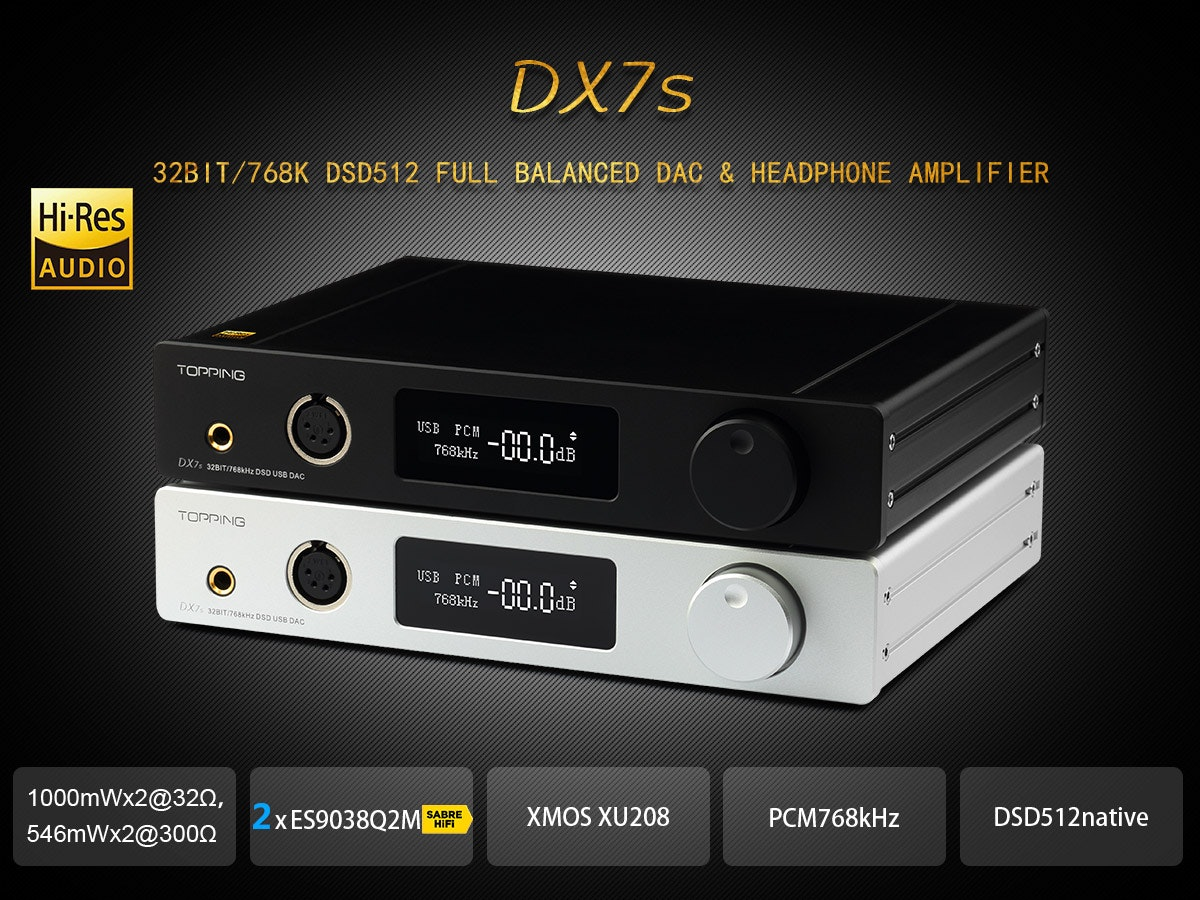 DX7s Full Balanced DAC&Headphone Amp,TOPPING