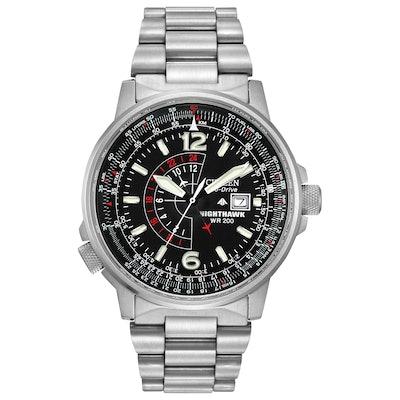 Promaster Nighthawk - Men's Eco-Drive Dual Time Flight Watch    CitizenSlice 1Ar