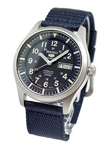 Amazon.com: Seiko Men's SNZG11J1 5 Sports Blue Watch: Watches