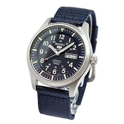 c78760656 Amazon.com: Seiko Men's SNZG11J1 5 Sports Blue Watch: Watches