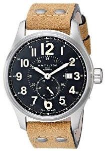 Amazon.com: Hamilton Men's H70655733 Khaki Officer GMT Watch: Hamilton: Watches